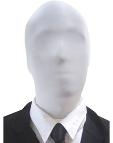 Maschera Slenderman bianca Morphsuits