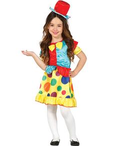 Costume da pagliaccetta chic da bambina