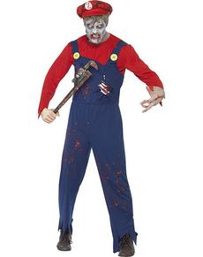 Costume da Mario zombie da uomo