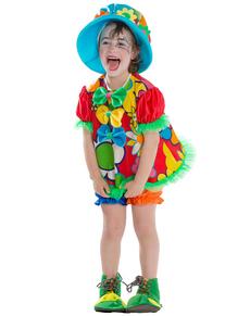 Costume da pagliaccetta felice per bambina