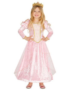 Costume da principessa delle fiabe rosa per bambina