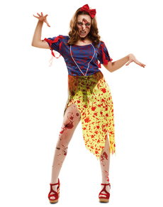 Costume da principessa delle nevi zombie per donna
