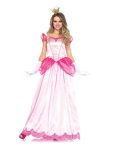 Costume da principessa Peach per donna