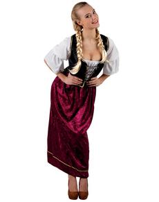Costume da locandiera granata per donna