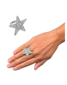 Anello stella brillante per donna