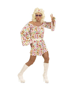 Costume da hippie con glamour per uomo