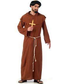 Costume da monaco francescano medievale
